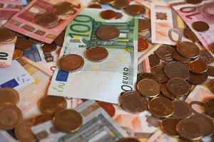 Euro (EUR) notes and coins, European Union (EU)
