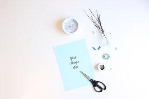 Blue Paper And Scissors