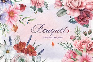 Bouquets, Watercolor collection