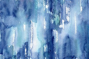 Grungy blue watercolor texture