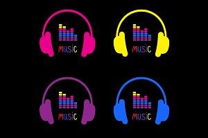 Headphones, equalizer music card