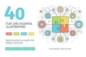 40 Flat line concepts