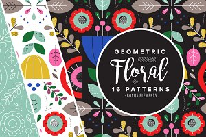 Geometric Floral Patterns