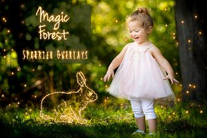 Magic Forest Sparkler Overlays