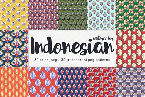 Indonesian seamless patterns