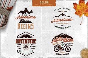 9 Adventure Logos & Tee Designs