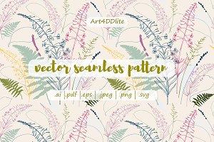 Fireweed ,fern, lavender, wild grass