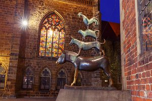 The Bremen Town Musicians in Bremen, Germany