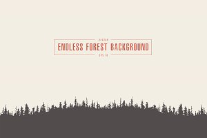 Endless pine forest