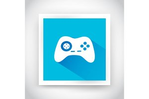 Icon of joystick for web and mobile