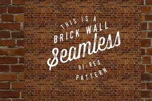 Seamless red brick wall pattern