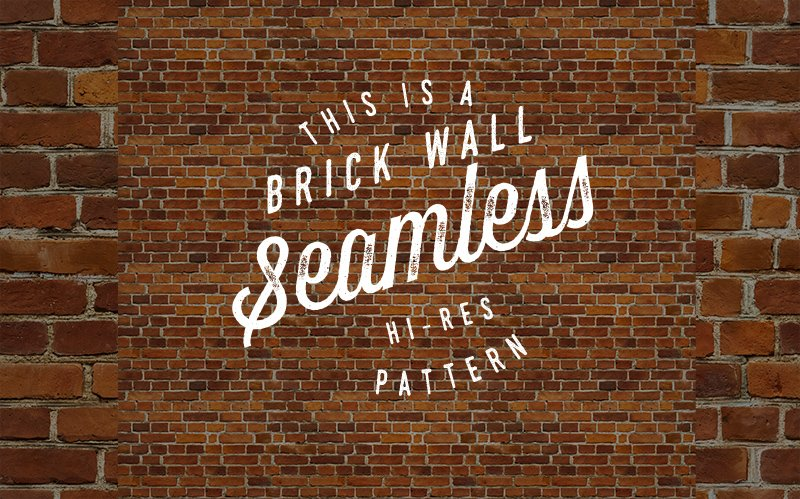 Seamless Red Brick Wall Pattern Patterns Creative Market
