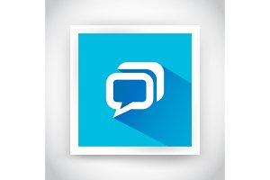 Icon of message for web and mobile