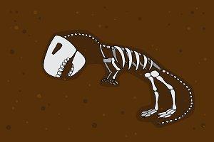 Tyrannosaurus rex fossil