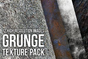 12 Grunge textures - pack