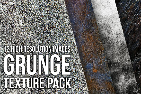 12 Grunge Textures Pack