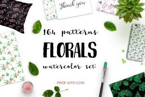 164 Watercolor FLORALS patterns