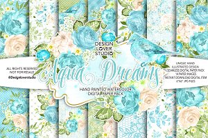 Watercolor AQUA DREAMS DP pack