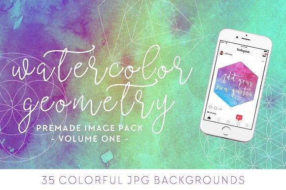 Watercolor + Geometry Image Pack [1]