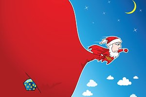 Super Santa Delivery illustration