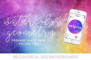 Watercolor + Geometry Image Pack [2]