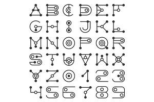 Alphabet Geometric Letters
