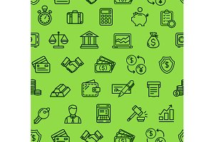 Finance Pattern Background