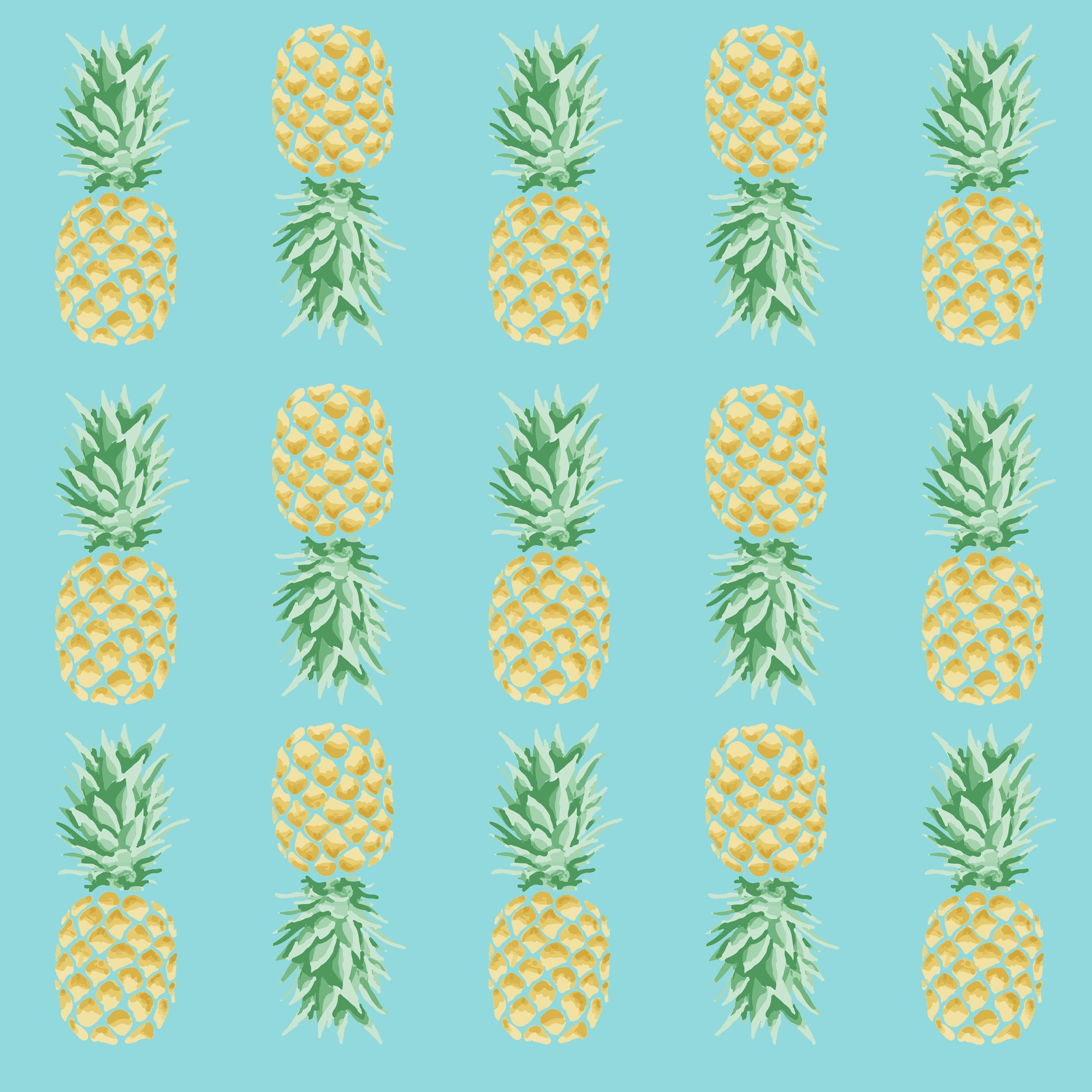 Pineapple Tropical Pattern ~ Graphic Patterns ~ Creative ...