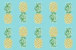 Pineapple Tropical Pattern