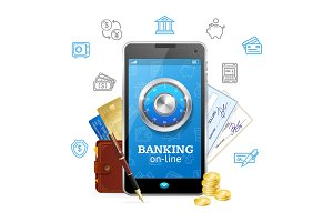 Banking Online Concept Mobile