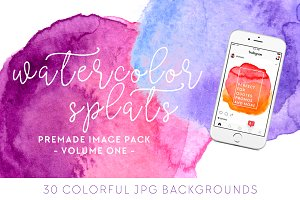 Watercolor Splats Insta Pack [1]