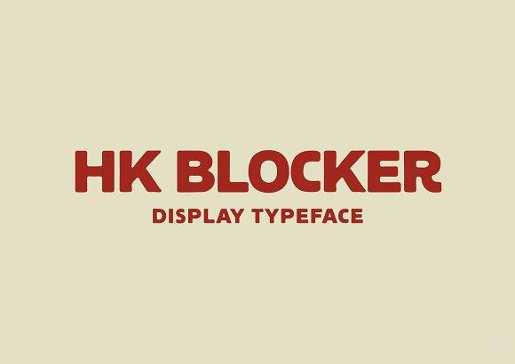 HK Blocker Typeface