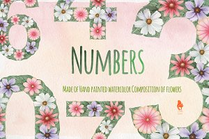 Numbers, Watercolor collection