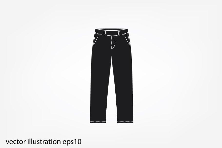 cbf636146b5 pants icon vector ~ Icons ~ Creative Market