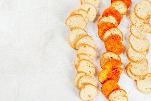 Italian brusquette crackers