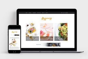 Happiness - A Food Blog Theme