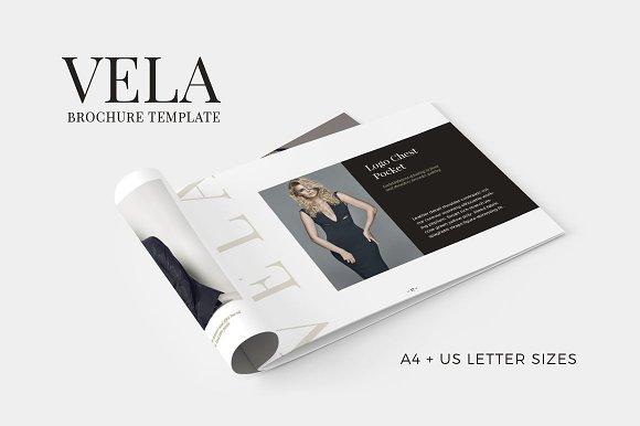vela brochure template brochure templates creative market