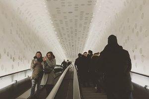 Escalator inside Elbphilharmonie