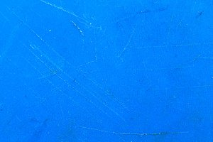 Cut Plastic Surface in Blue