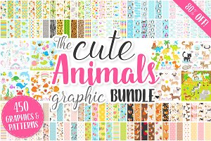 Animals Graphics and Patterns Bundle