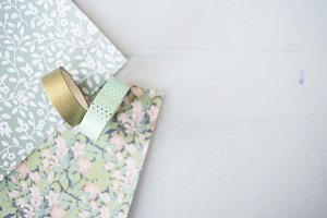 Washi Tape + Scrapbook Paper