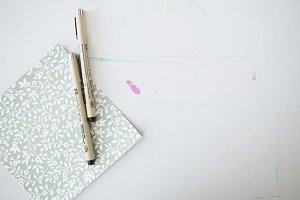Scrapbook Paper + Pen 1