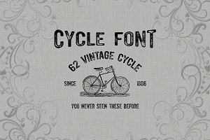 Cycle font-50% off