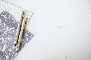 Scrapbook Paper + Pens 2