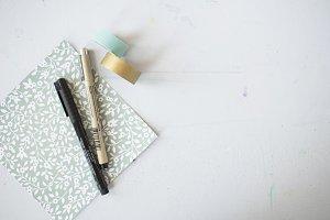 Pens + Washi Tape