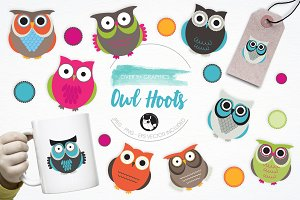 Owl Hoots illustration pack