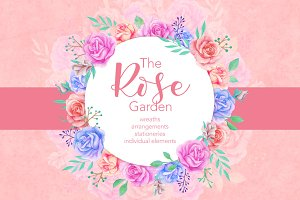 The Rose Garden: Design Cliparts