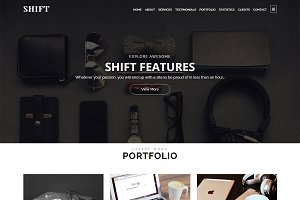 Shift - Parallax WordPress Theme