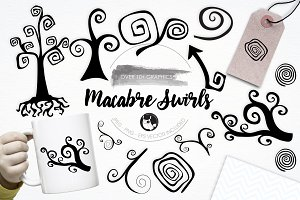 Macambre Swirls illustration pack