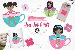Tea Tot Girls illustration pack